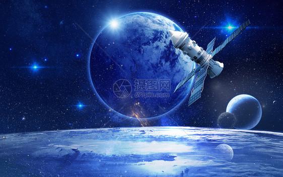 炫酷太空场景图片