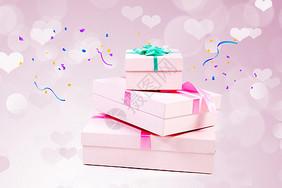 粉色礼盒图片
