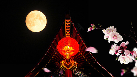 中秋圆月图片