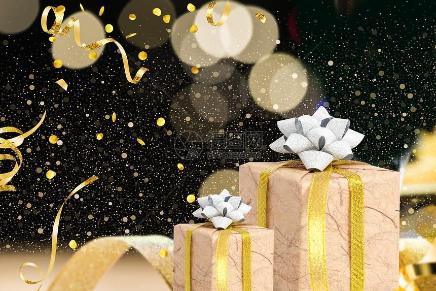 高端金色礼盒图片