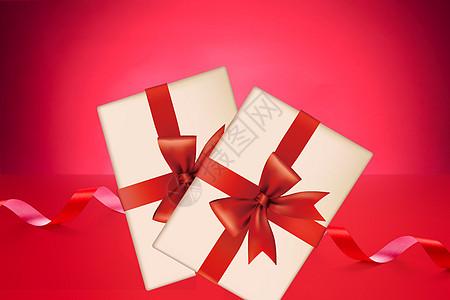 红色节日礼物盒图片