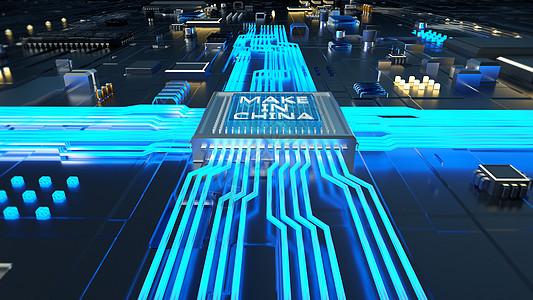 科技芯片场景图片