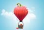 创意果蔬热气球图片
