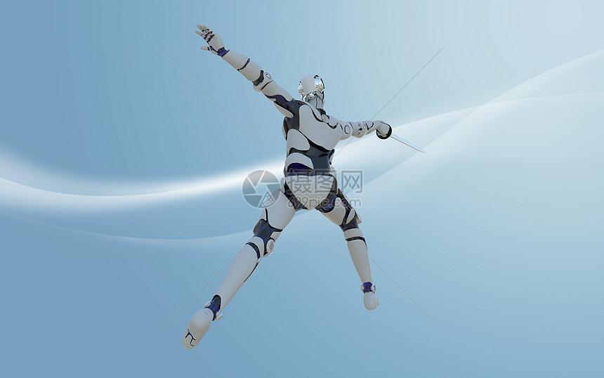 机器人击剑图片