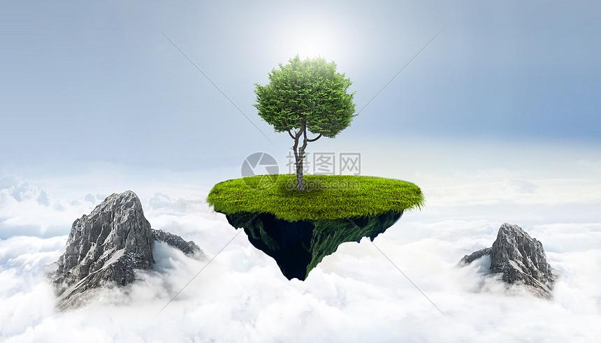 创意天空科技环保图片