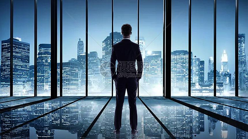 商务人士与城市图片