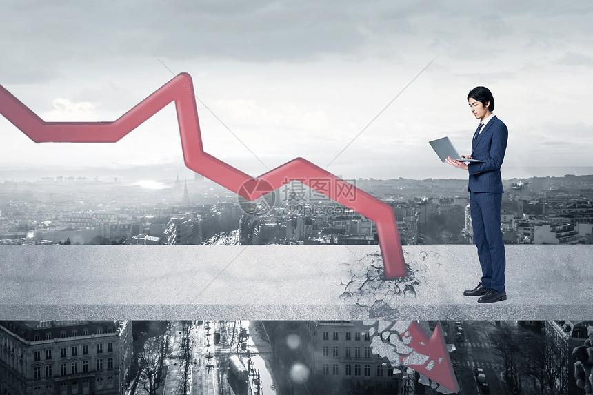 商业下降趋势图片