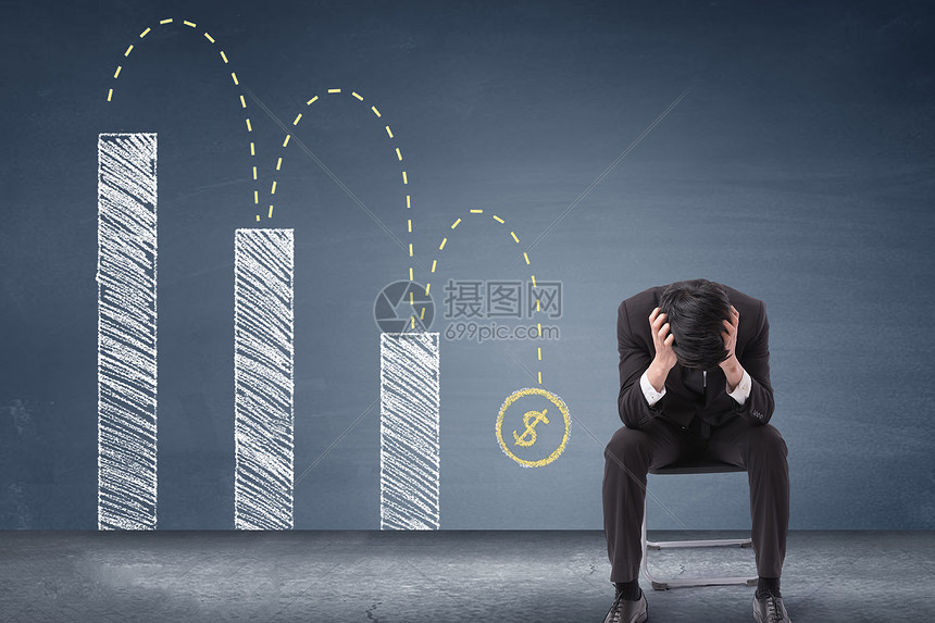 经济下滑危机图片
