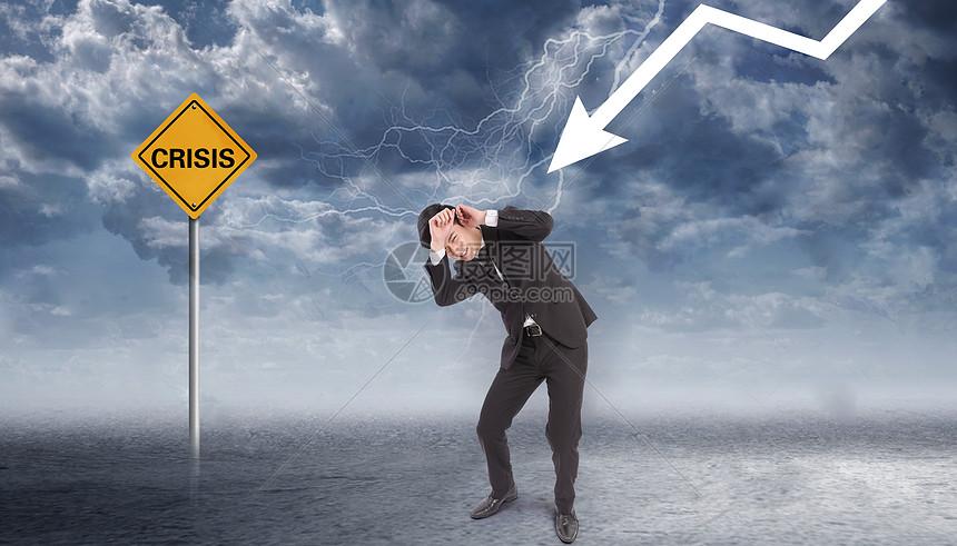 创意商务危机图片