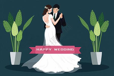 穿婚纱拍婚纱照的男女图片