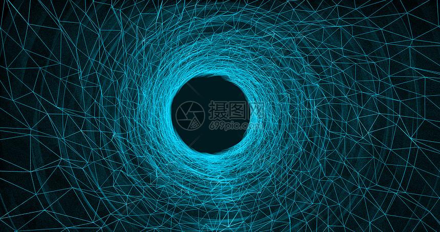 科技黑洞粒子背景图片