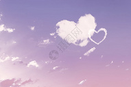 七夕爱心云朵图片