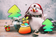 圣诞礼物创意摄影插画图片