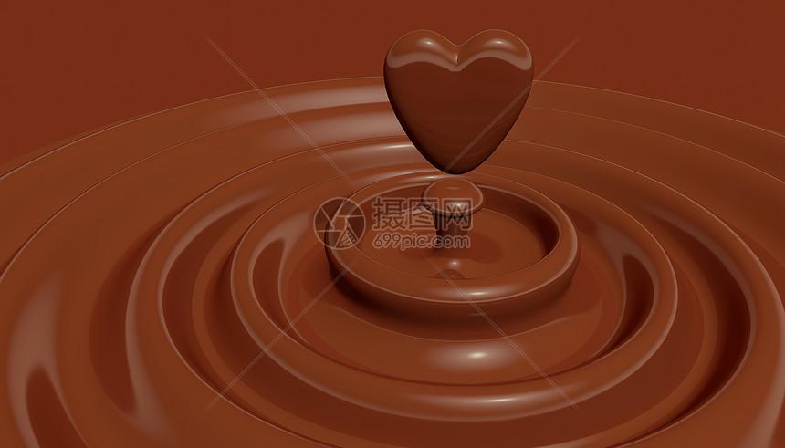 浪漫心情巧克力图片