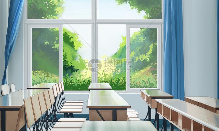 明亮教室图片