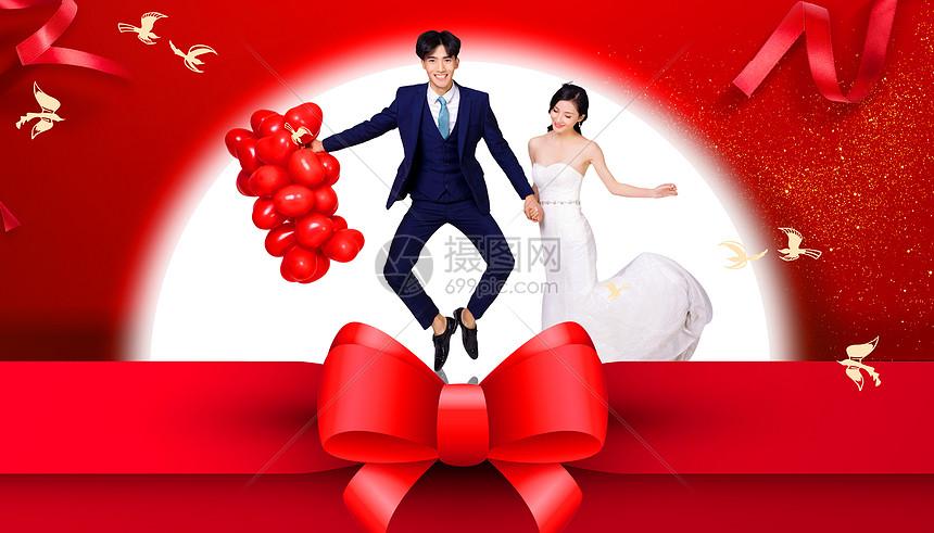 七夕情人节创意甜蜜背景图片