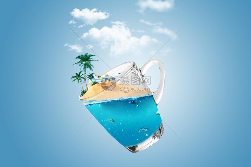 水杯中的世界图片