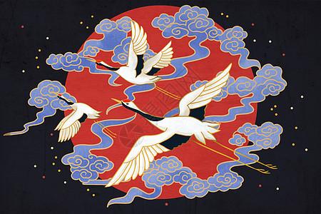 中国风仙鹤图片