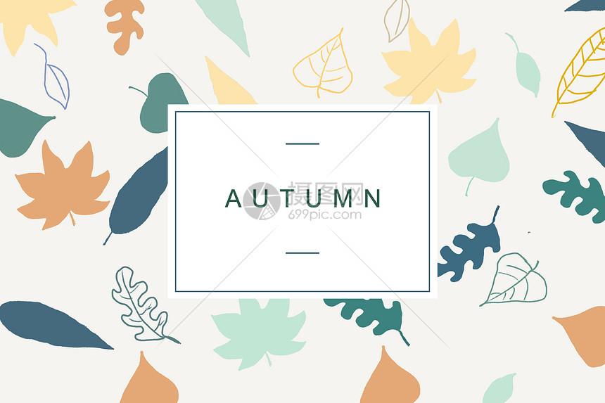 秋季植物叶片背景素材图片
