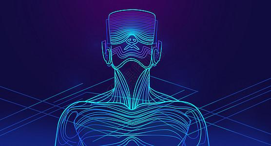 VR智能科技背景图片