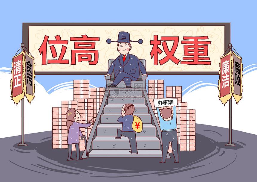 位高权重反腐反贪漫画图片