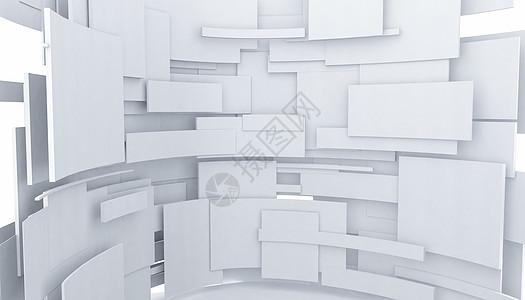 创意立体建筑空间图片