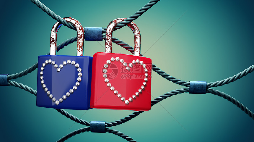 爱心锁图片