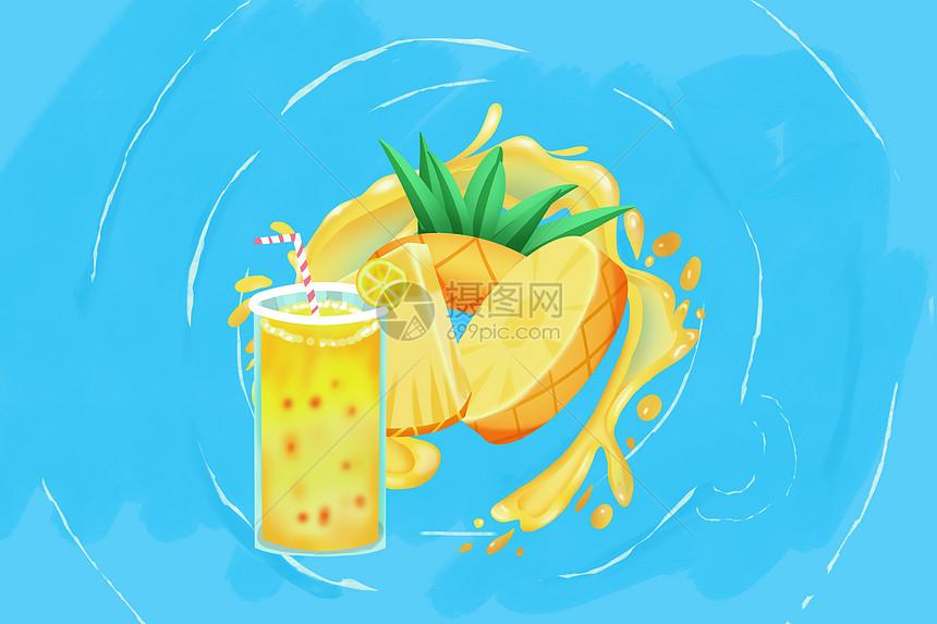度假的菠萝先生图片