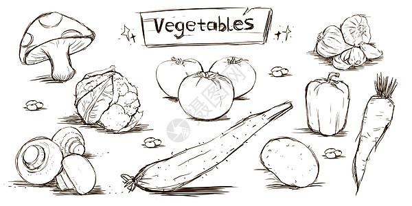 手绘风蔬菜元素图片