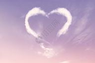 情人节心形云朵图片