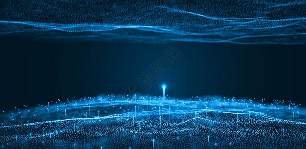 大数据科技粒子背景图片