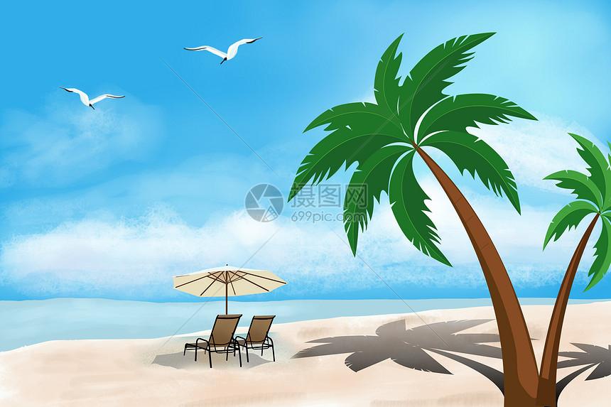 夏季沙滩度假图片