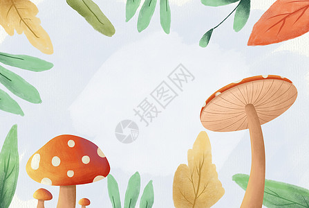 可爱的蘑菇图片