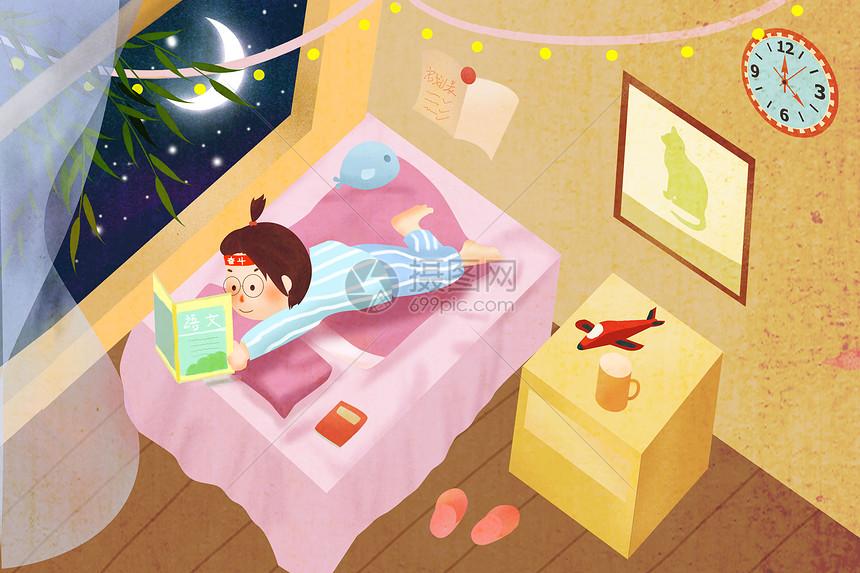 熬夜学习图片