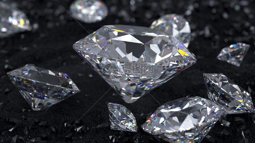 晶莹剔透的钻石图片