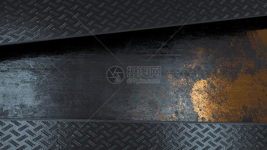 黑色金属空间图片