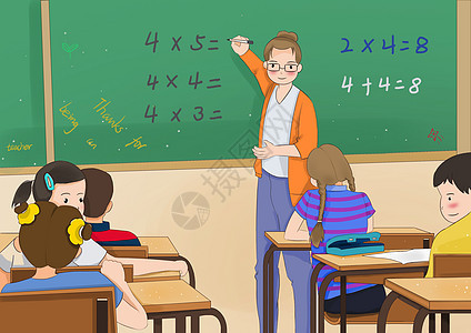 父亲节海报_手绘上课的老师插画图片下载-正版图片400056400-摄图网