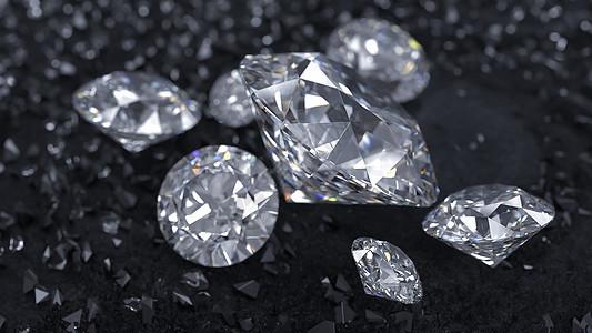晶莹的钻石图片