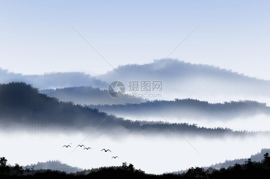 国风水墨风景图片