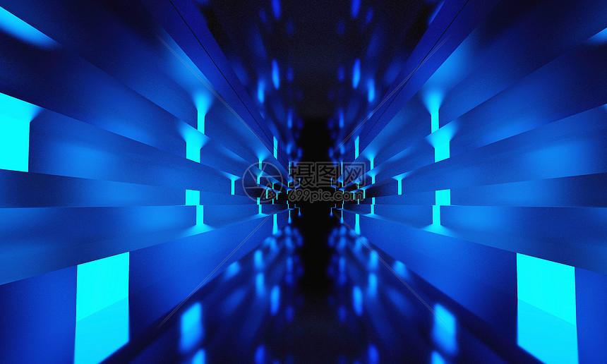 蓝色科幻空间图片