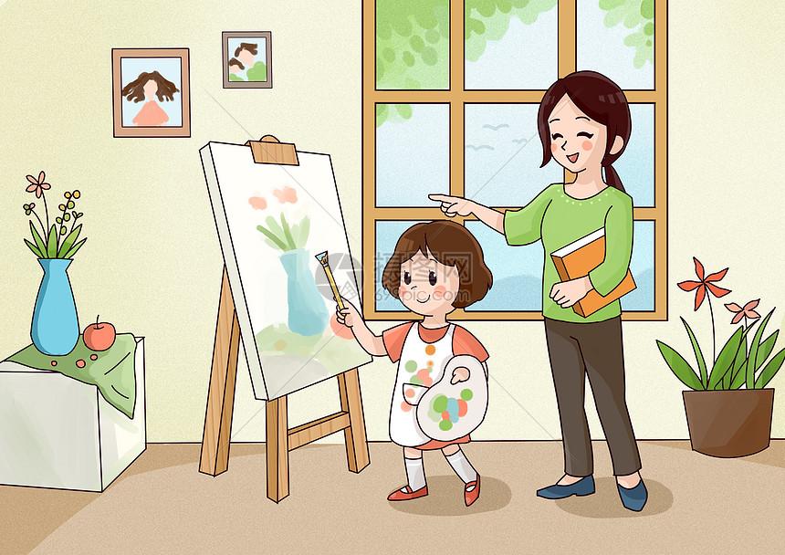 儿童学画画图片