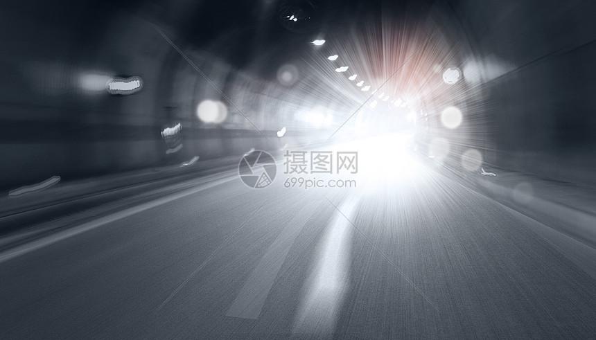 隧道光芒背景图片