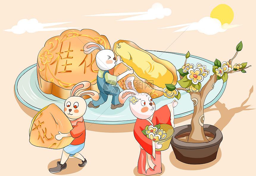 桂花月饼图片