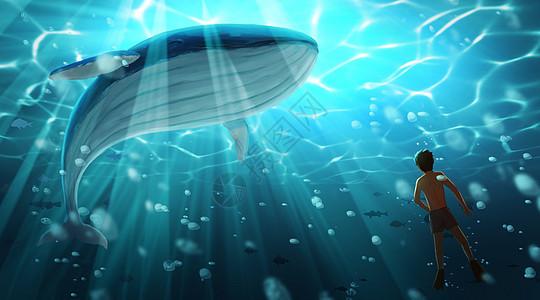 鲸鱼与少年图片