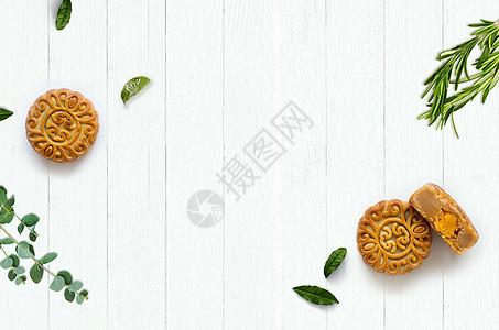 中秋月饼桌面背景图片