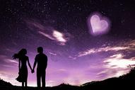 爱情星空图片