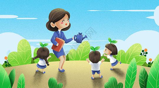 老师是辛勤的园丁图片