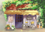 小店门口图片