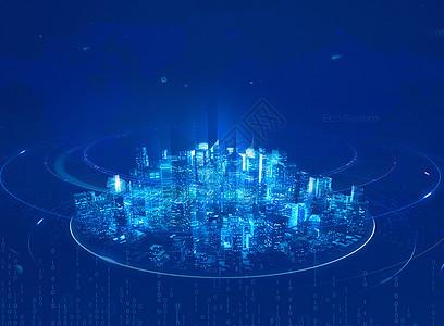 城市科技海报背景图片