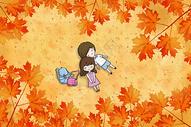 枫树下的情侣图片